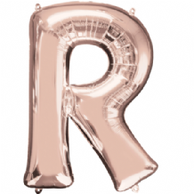 "Rose Gold Letter R Balloon - Rose Gold Letter Balloon (34"")"
